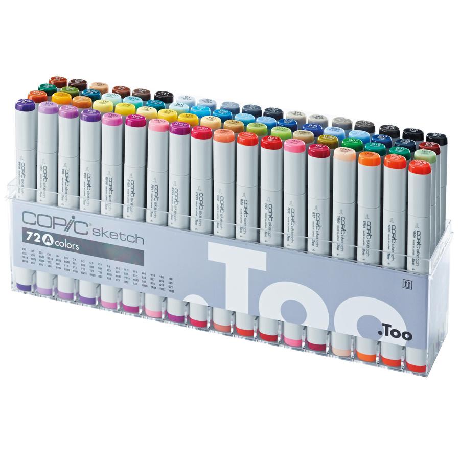 Набор маркеров A Copic sketch 72 штуки - купить в художественном интернет-магазине Арт-Квартал