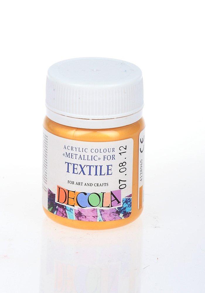 Краска для ткани золотая бейка на футболке